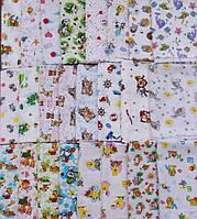 Ситцевые пеленки для новорожденных в роддом красивые расцветки 75Х90