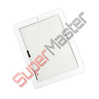 Тачскрин (сенсор) со стеклом для iPad New 3, iPad 4, цвет белый