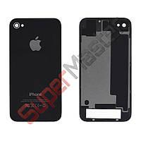 Задняя крышка для iPhone 4S, цвет черный, копия