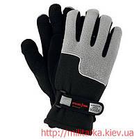 Перчатки зимние RPOLTRIAN флис черно-серые