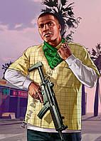 Картина 40х60 см ГТА GTA 5 Джони с ружьем