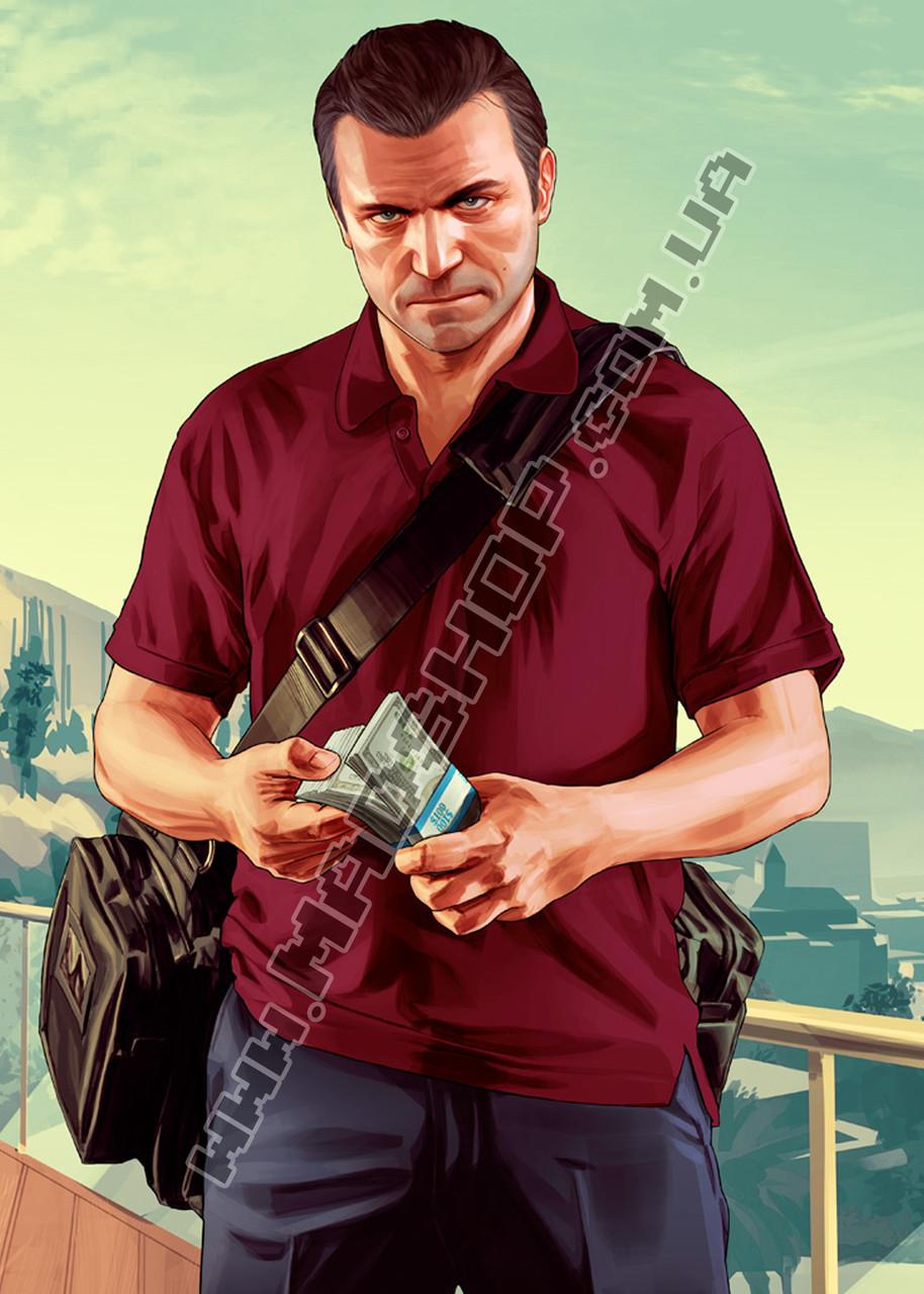 Картина 40х60 см ГТА GTA 5 Михаель