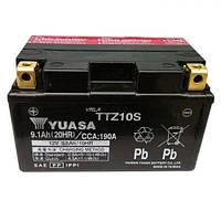 YUASA TTZ10S Мото аккумулятор 8,6 А/ч, 190 А (+/-), 150х87х93 мм