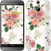 "Чехол на HTC One M8 dual sim цветочные обои v1 ""2293c-55"""