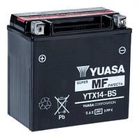 YUASA YTX14-BS Мото аккумулятор 12 А/ч, 200 А, (+/-), 150x87x145 мм