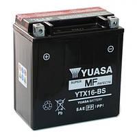 YUASA YTX16-BS Мото аккумулятор 14 А/ч, 230 А, (+/-), 150х87х161 мм