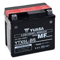 YUASA YTX5L-BS Мото аккумулятор 4,2 А/ч, 80 А, (-/+), 114х71х106 мм