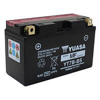 YUASA YT7B-BS Мото аккумулятор 6,8 А/ч, 110А, (+/-), 150x65x93 мм