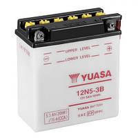 YUASA 12N5-3B Мото аккумулятор 5,3 А/ч, 39 А, 120х60х130 мм
