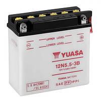 YUASA 12N5.5-3B Мото аккумулятор 5,5 А/ч, 55 А, 135х60х130 мм