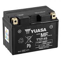 YUASA TTZ14S Мото аккумулятор 11,3 А/ч, 230 А, (+/-), 150х84х110 мм