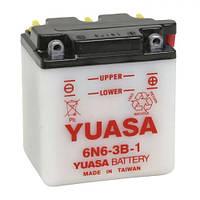YUASA 6N6-3B-1 Мото аккумулятор 6 А/ч, 30А, 6 В, (-/+), 99х57х111 мм