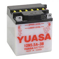 YUASA 12N5.5A-3B Мото аккумулятор 5,5 А/ч, 58 А (-/+), 103х90х114 мм