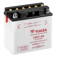 YUASA 12N7-4A Мото аккумулятор 7 А/ч, 74 А (+/-), 135х75х133 мм