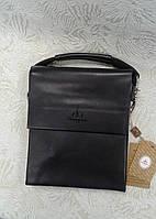 Мужская сумка черная наплечная фирмы Langsa