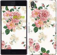 """Чехол на Sony Xperia Z3 D6603 цветочные обои v1 """"2293c-58"""""""