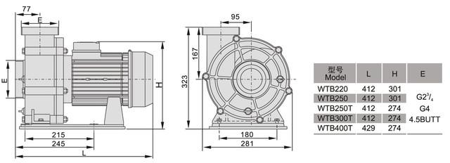 Размеры насоса для бассейна AquaViva LX WTB400T