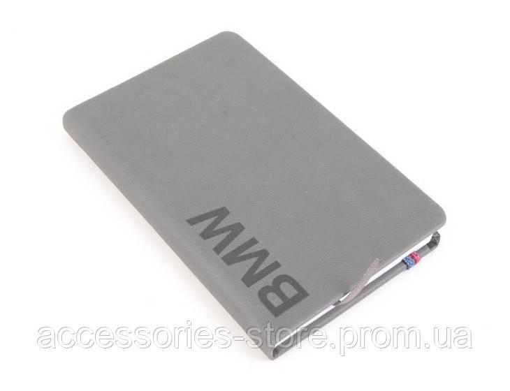 Блокнот BMW Wordmark Notebook, Space Grey