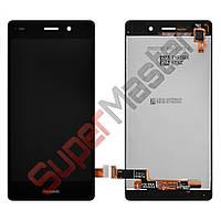Дисплей Huawei P8 Lite (ALE L21) с тачскрином в сборе, цвет черный, большая микросхема