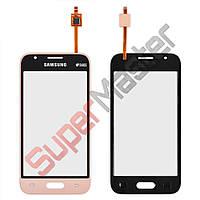 Тачскрин (сенсор) Samsung Galaxy J1 Mini J105H, цвет золотой, маленькая микросхема