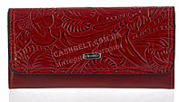 Стильный оригинальный классический женский кошелек высокого качества FUERDANNI art. 8011 красный