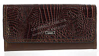 Стильный оригинальный классический женский кошелек высокого качества FUERDANNI art. FL80105 коричневый