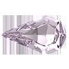 Капли в цапах Preciosa (Чехия) Light Amethyst/серебро 13х7.8 мм
