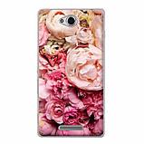Силиконовый чехол для Sony Xperia C C2305 S39h с рисунком don't touch my phone, фото 2