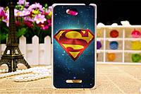 Силиконовый чехол для Sony Xperia C C2305 S39h с рисунком эмблема super man на фоне звёздного неба