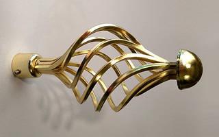 Декоративный наконечник Арезо для кованого карниза 16 мм.