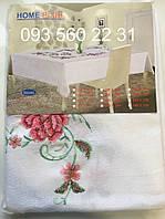Скатерть полиэстер с вышивкой (Весна) 150х220