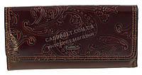 Стильный оригинальный классический женский кошелек высокого качества FUERDANNI art. FL80094 коричневый