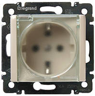 Розетка Legrand Valena с заземляющим контактом и крышкой влагозащищенная IP-44 (слоновая кость) 774120
