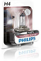 Автолампа Philips H4 Vision Plus +60% 12V 60/55W P43t-38 12342VPB1