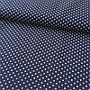 Штапель с мелкими горошками 1,5 мм на темно-синем фоне