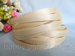Обруч металлический обшитый тканью, КРЕМОВЫЙ, 1,0 см
