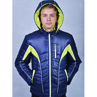 Куртка евро-зима для мальчика - подростка Алекс синяя