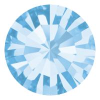 Пришивные стразы в цапах Preciosa (Чехия) ss30 Aquamarine/серебро