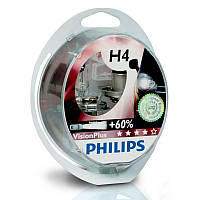 Автолампа Philips H4 Vision Plus +60% 12V 60/55W P43t-38 12342VPS2