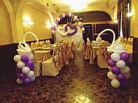 Оригинальное украшение свадьбы