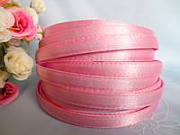 Обруч металлический обшитый тканью, СВЕТЛО-РОЗОВЫЙ, 1,0 см