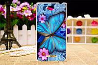 Чехол силиконовый бампер для Sony Xperia C C2305 S39h с картинкой синяя бабочка