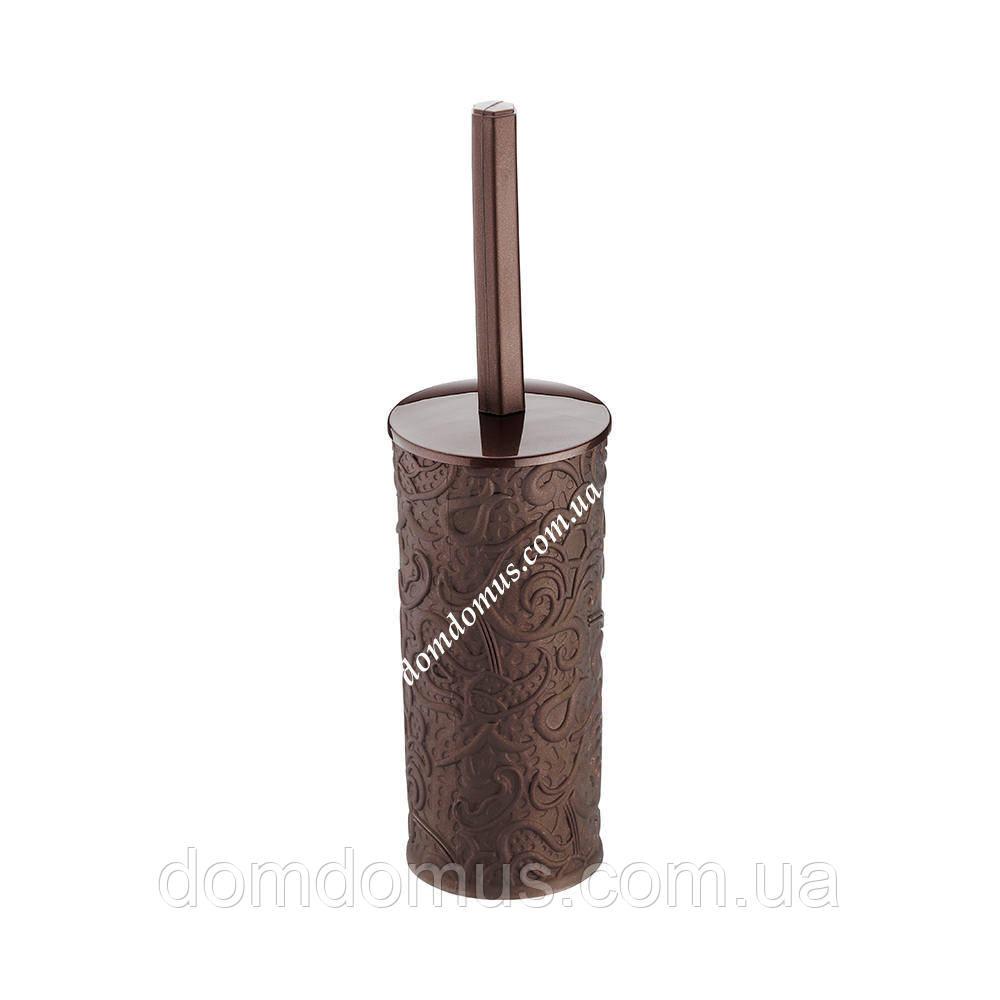 """Комплект для туалету """"Ажур"""" (йорж і підставка), коричневий"""