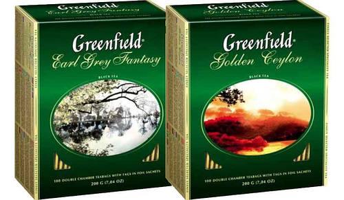 Greenfield 100 пакетов в ассортименте.