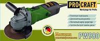 Машина угловая шлифовальная PROCRAFT PW -980 125 мм