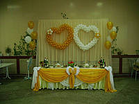 Свадебная композиция из шариков
