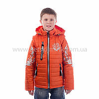 """Куртка-жилетка для хлопчика демісезонна """"Тігран"""",новинка 2017 року, фото 1"""