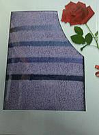 Полотенце махровое подарочное 70х140 см 100% хлопок, Турция Фиолетовый