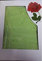 Полотенце махровое подарочное 70х140 см 100% хлопок, Турция Оливка