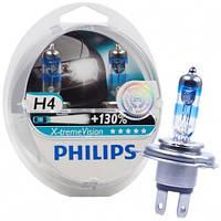 Автолампа Philips H4 X-treme Vision +130% 12V 60/55W P43t-38 12342XV+S2